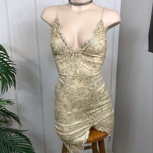 Windsor Gold Tone lace dress size xs